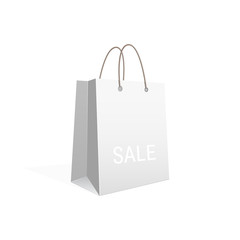 Vector shopping paper bag isolated