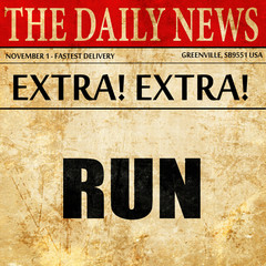 running, article text in newspaper