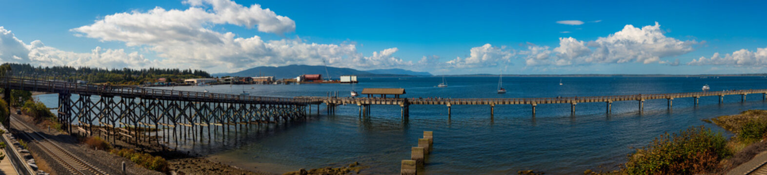 Panorama of the Pier at Bellingham, Washinton