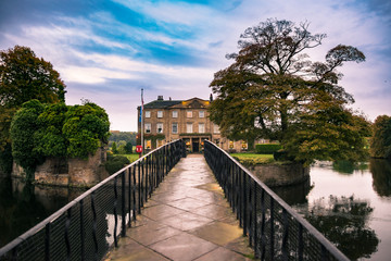 Walton Hall in a scenic setting of rolling parkland with its own