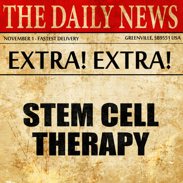 stem cell therapy, article text in newspaper