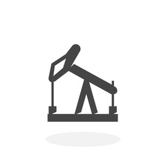 Oil pump Icon. Vector logo on white background
