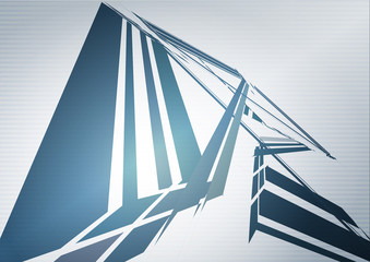 Technology wallpaper with blue futuristic structure. Vector