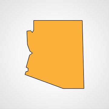 Arizona map. Vector