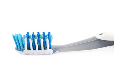 Plastic toothbrush isolated