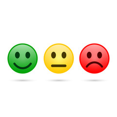 Smiley emoticons icon positive, neutral and negative, vector.