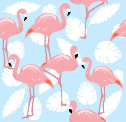 Vector Flamingo SEamless
