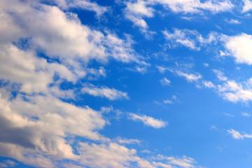 blue sky blue clouds background