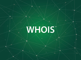 whois an Internet utility used to search the large DNS Domain Name System database of domain names, IP addresses, and and Web servers