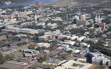Savannah Downtown Aerial View
