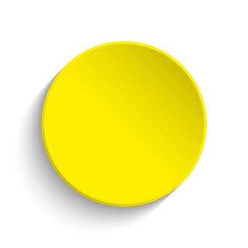 Yellow button on white background