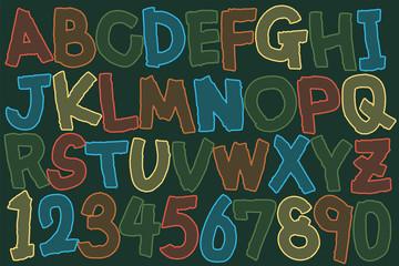 デザインフォント 手書きの英数字