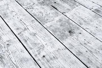 Weiße Holzplanken