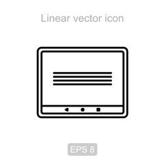 Pad. Linear vector icon.