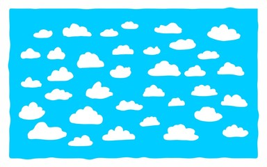 Linear cloud pattern