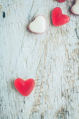 Red heart shape candy
