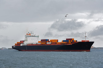 International Container Cargo ship in sea