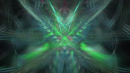 Fantasievoller mehrfarbiger Hintergrund - Grüner Lichtschein