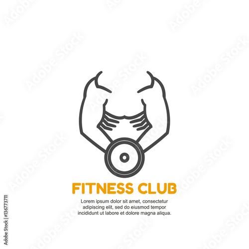 Fitness club logo design vector template. Sport logou0026quot; Imu00e1genes de ...