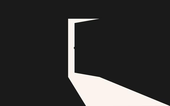 Light coming in through opening door