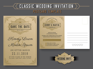 Classic vintage wedding invitation card design with beautiful classic vintage wedding invitation card design with beautiful mandala flower suitable for both traditional and modern trend stopboris Image collections