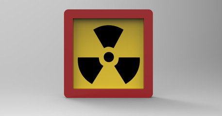 3D Illustration Of A Radiation Sign