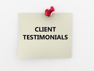 3d red thumbtack client testimonials