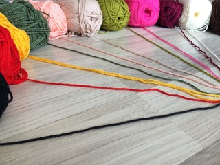 add a splash of color on a wooden floor