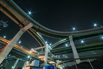 Hokkou junction night scene,Osaka,Japan