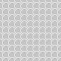 Illustration seamless texture white geometric patterned backgrou