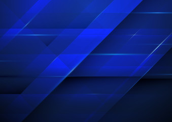 Abstract dark blue background. Technology concept design.