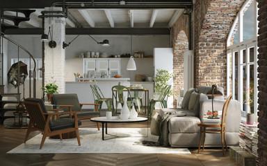 vintage style loft downtown apartment - Industrie Altbau Loft wohnung