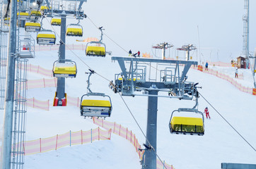 Lift at a ski resort.