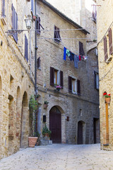 small town Volterra in Tuscany, Italy