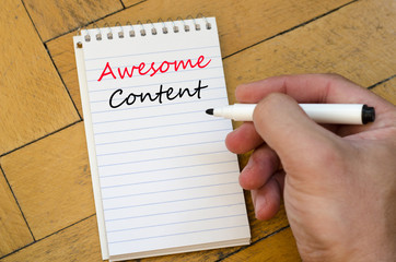 Awesome content concept on notebook