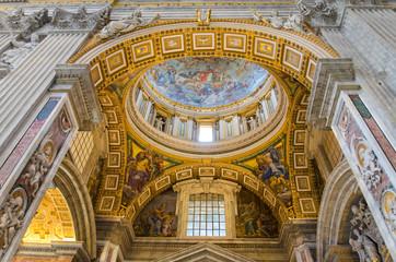 Interior of Saint Peter Basilica, Vatican.