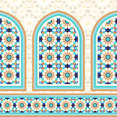 Islamic architectural mosaic background