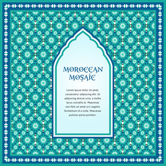 Moroccan mosaic frame