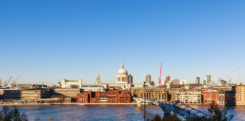 Panoramic View of St Paul's Cathedral in London