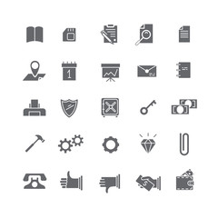 Black icons for business.