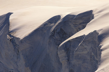 Detail of mountain snowdrift