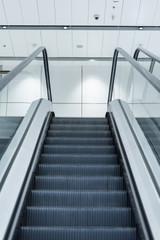 Abstract empty escalator