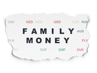 Banking concept: Family Money on Torn Paper background