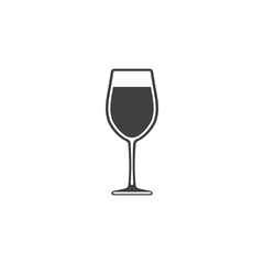 Wine in a glass icon isolated on white background