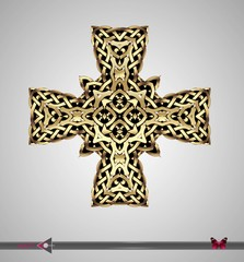 Celtic pattern. Cross. Vector ornament. Design element