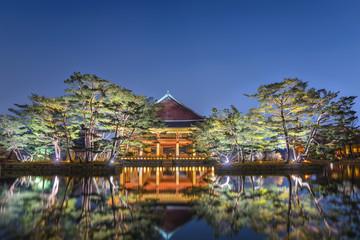 Gyeonghoeru Pavilion at Gyeongbokgung Palace at night, Seoul, South Korea
