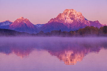Stores photo Prune Sunrise Fall Reflection in the Tetons