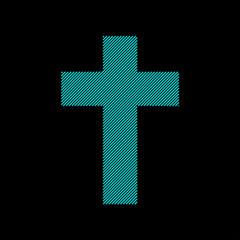 church cross symbol. Christian symbol of religion. Vector illustration.