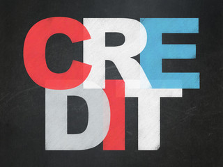 Business concept: Credit on School board background