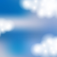 background of the sky with clouds. Vector illustration.